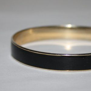 Gold and black bangle bracelet
